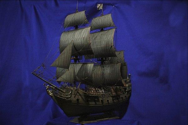 Неожиданный визит Дейви Джонса. Понедельничное мое Черная жемчужина, Капитан Джек Воробей, Барбосса, Дейви Джонс, Пираты карибского моря, Длиннопост, Моделизм