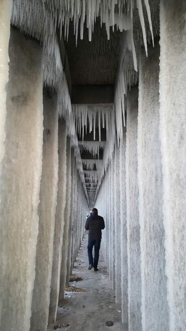 Ледовый променад мороз, лёд, Калининград, длиннопост