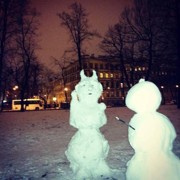 Уже забыл, как делать снеговиков