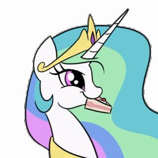 Вот вы тут сидите умные такие My Little Pony, Princess Celestia, Поздравление, Гифка