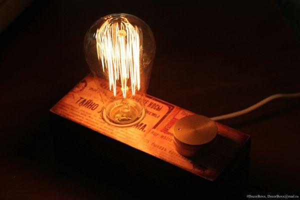 Светильник с лампой эдисона Светильник, ночник, лампа эдисона, диммер, своими руками, моё, длиннопост