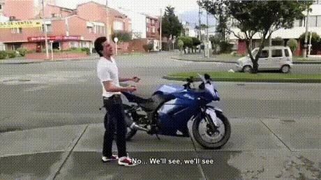 Значит мотоцикл новый купил?