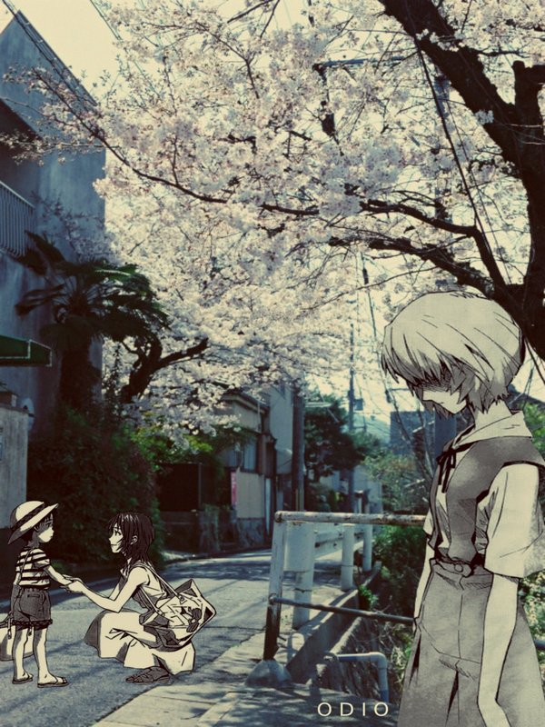You are (not) Alone аниме, Anime Art, Evangelion, Rei Ayanami, Shinji Ikari