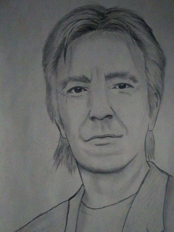 Алан Рикман Алан Рикман, смерть, память, Северус Снейп, рисунок, карандаш