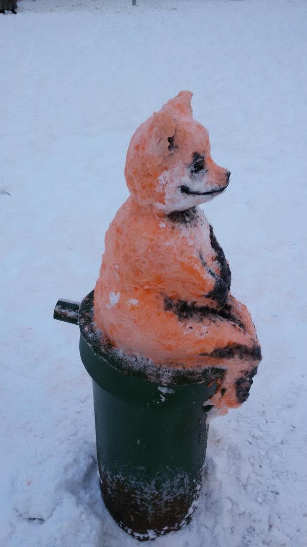 Ходили сегодня лепить снеговика... Упоротый лис, Своими руками, Крипота, Развлечения, Длиннопост
