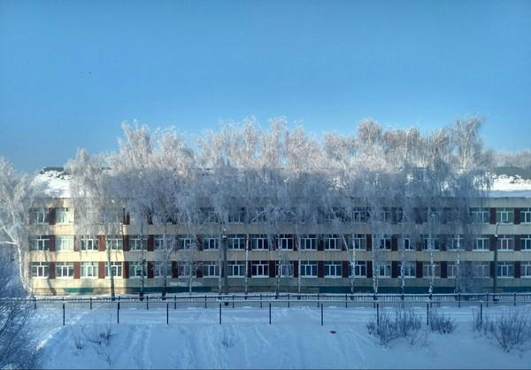 Вид из окна. Школа.
