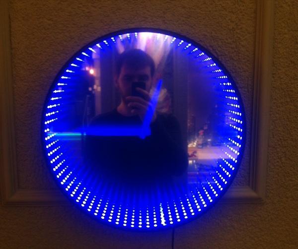 Часы с эффектом тоннеля Часы, Светодиодные часы, Зеркало, Длиннопост, Тоннель, RGB, Своими руками, Рукожоп