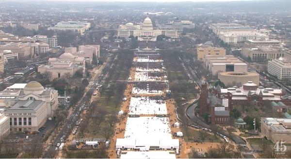 Obama '09 vs Trump '17 Инаугурация, Трамп, Обама, США