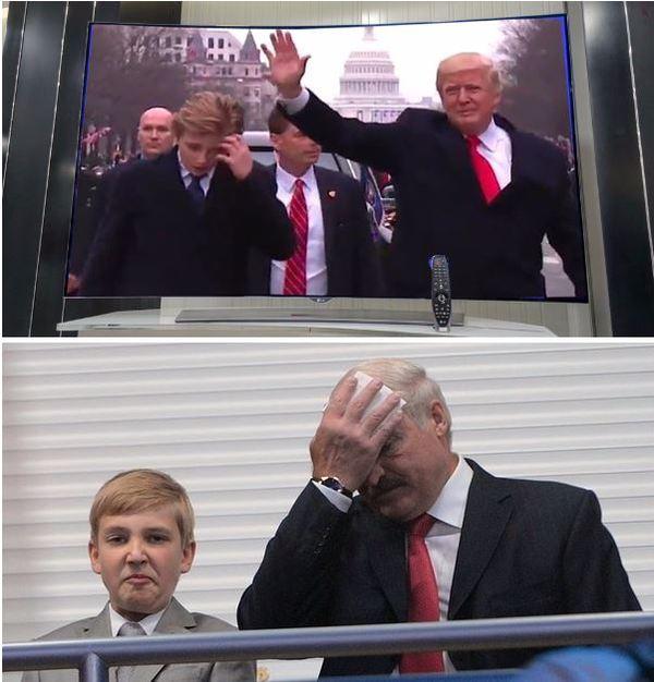 Будущие политики :) Трамп, Александр Лукашенко, Юмор, Дети