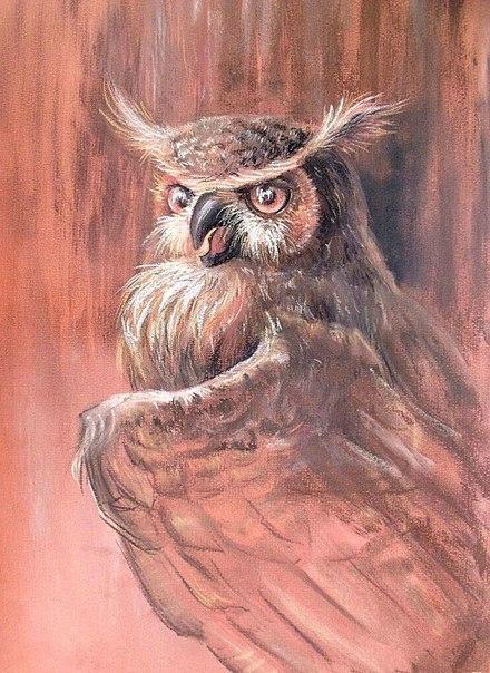 """""""СОВУШКА"""" арт, искусство, в мире животных, сова, рисунок, пастель"""