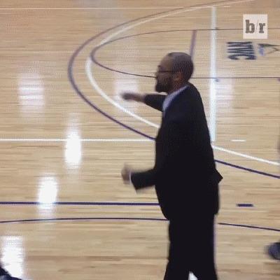 Индивидуальный подход Баскетбол, Тренер, Приветствие, Дай пять, История, Гифка