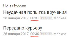 Исключительный профессионализм Почта России, Профессионализм, Курьер