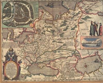 Первая печатная карта Руси История, Географическая карта, Русь