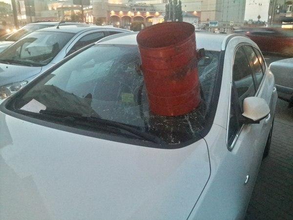 Штраф за неправильную парковку? Парковка, Разбитое стекло, Ведро, Месть