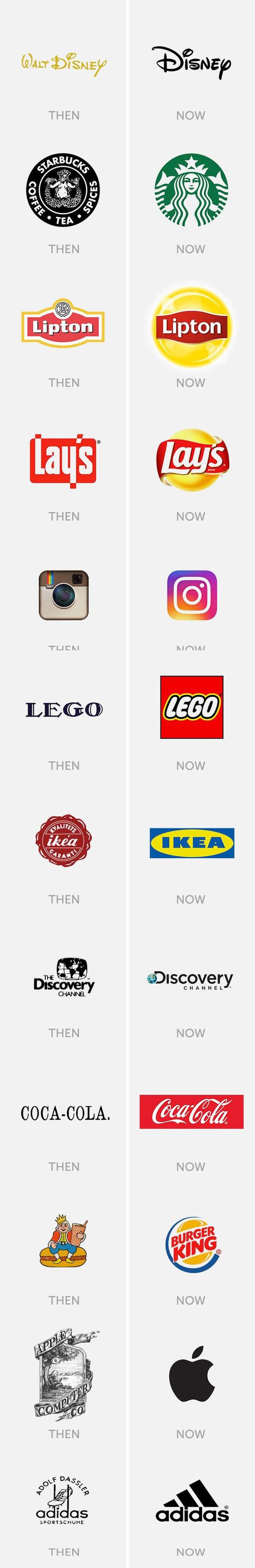 """Известные логотипы """"тогда и сейчас"""" Логотип, Instagram, Adidas, Starbucks, Apple, 9gag, Длиннопост"""