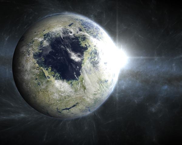 Терраформированный Плутон Плутон, терраформирование, рисунок, Kexitt