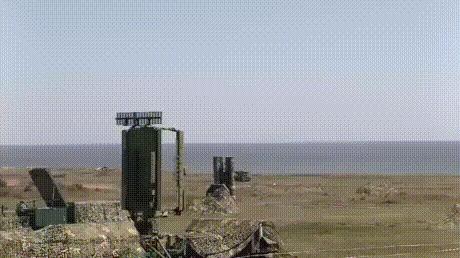 Работа комплекса ПВО