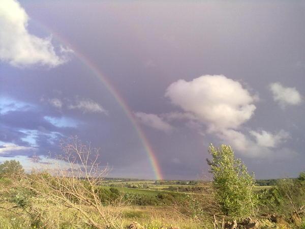 Немножко лета и настроения зимним вечером лето дождь радуга, настроение, длиннопост