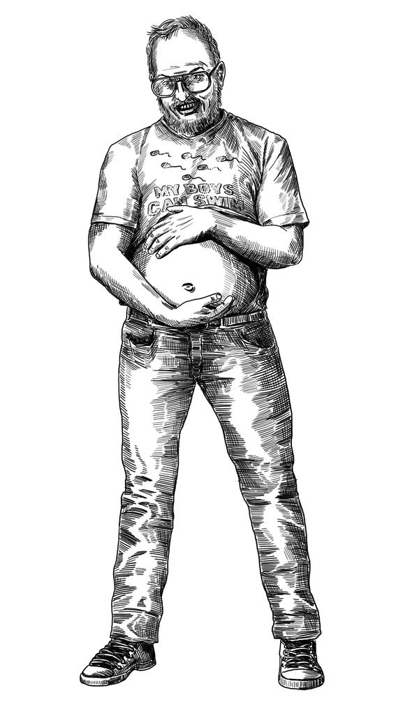"""Милашка"" рисунок к рассказу Игана. Графика, Арт, Иллюстрации, Фантастика, Иган, Мужчина"