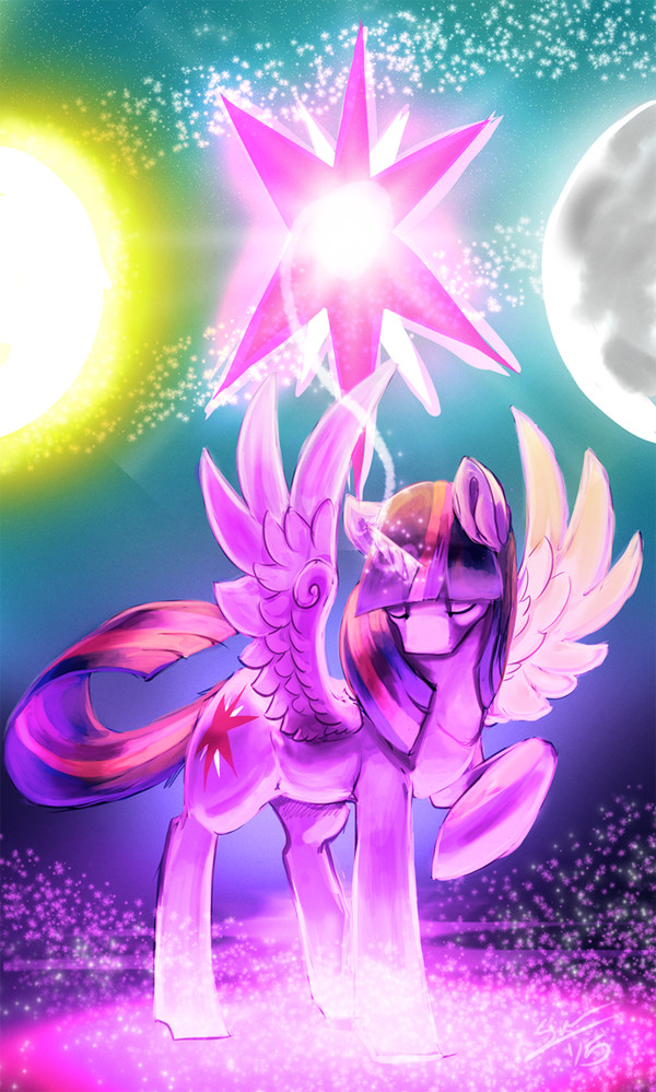 Magic My little pony, Twilight Sparkle, Рисунок