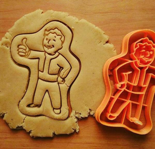 Vault boy Fallout, Формочки для печенья, SweetCabany, Вжух, Печенье, Своими руками, Vault Boy, Длиннопост