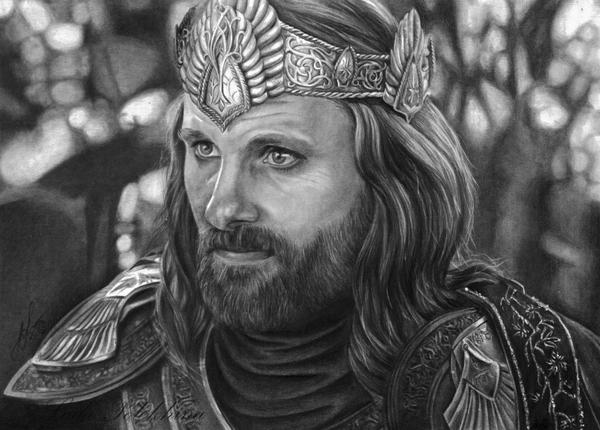 """Рисунок простым карандашом. """"Возвращение короля""""."""