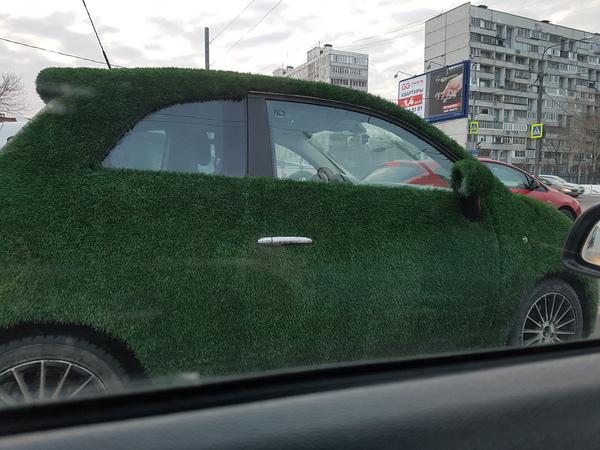 Когда ты хотел газон, а выросло чуть больше газон, Москва, Газономобиль, чудо-трава