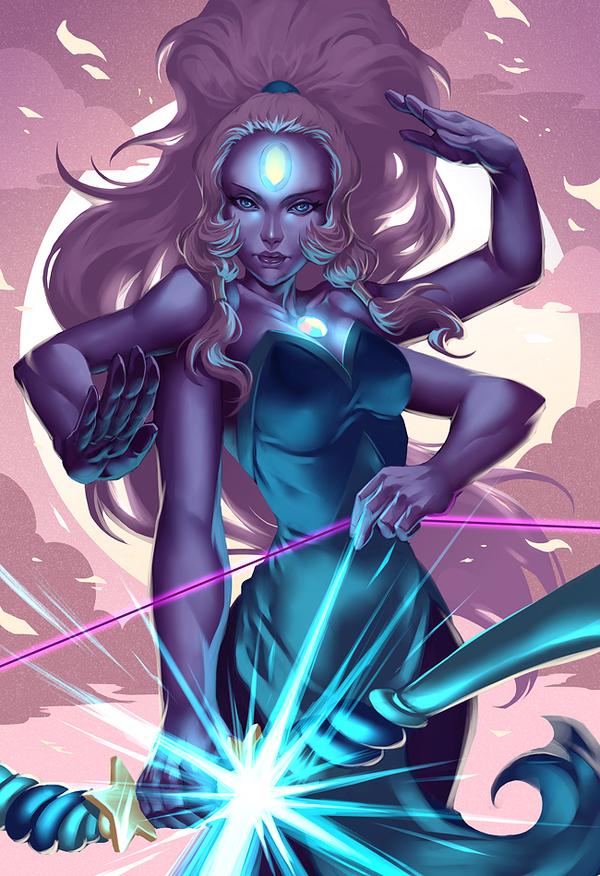 Великанша Steven Universe, Opal, Арт, Мультфильмы
