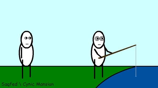 Рыбное (Анимированный комикс №22) Анимация, Гифка, CynicMansion, Комиксы, Философия
