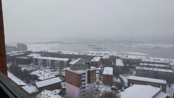 Когда хочешь красивый вид из окна своего дома) Иркутск, Дом, Дом на доме, Пентхаус, Река, Зима, Красивый вид