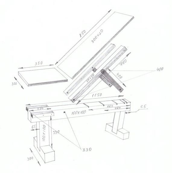Скамья для жима лежа - Изготовление универсальной скамьи - Сделай Сам 44