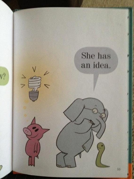 """Пришедшая """"идея"""" в этой книжке является энергосберегающей лампочкой"""