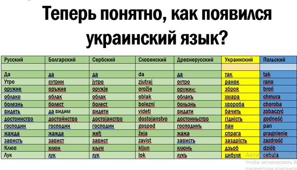 Мы наследники Киевской Руси, кричали они. Мы говорим на том же языке...