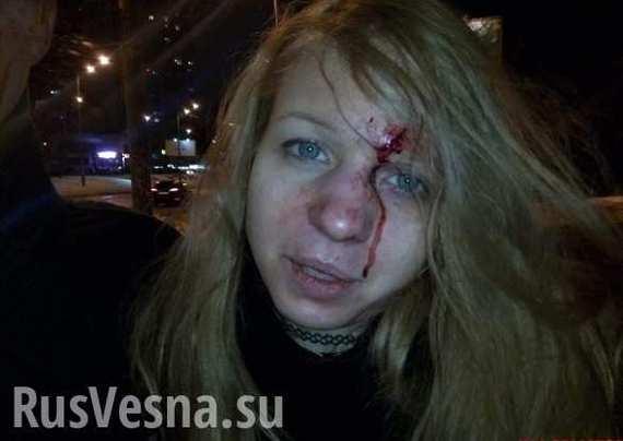Неонацистку Виту Заверуху избили побратимы СУГС!!! Украина, Россия, политика, Заверуха