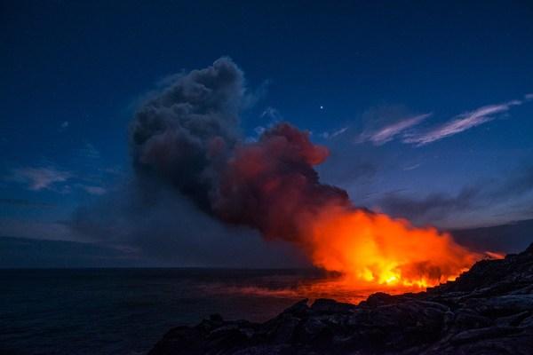 Они сошлись - вода и пламень. deep space, килауэа, венера, видео, длиннопост