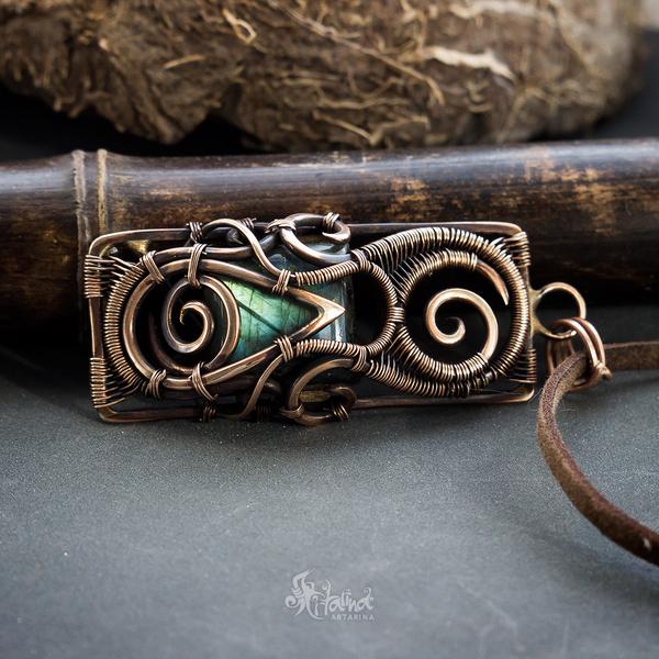 Бронзовый кулон в технике wire wrap Wire wrap, Ручная работа, Фэнтези, Творчество, Украшение, Длиннопост