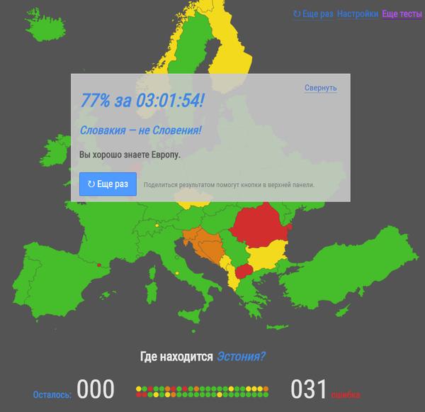 Как хорошо вы знаете Европу? карты, Тест, Европа, сайт