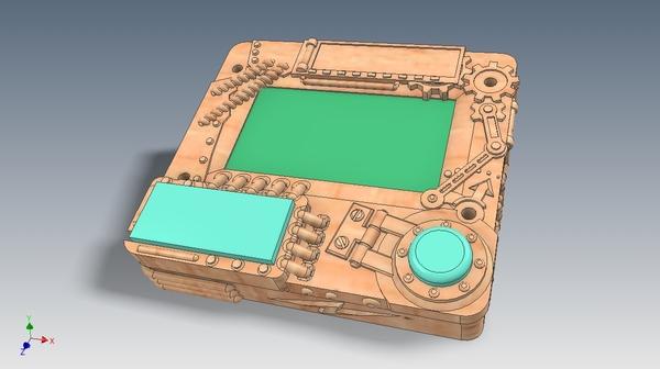 Когда брат попросил напечатать корпус для тестера, а я не удержался и добавил несколько деталей.. 3d печать, 3D принтер, Тестер, Корпус, Длиннопост