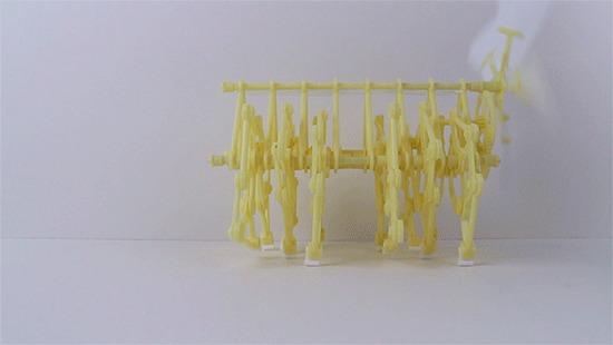 Залипательная модель Strandbeest! Strandbeest, Тео Янсен, Механизм, Залипалка, Гифка, Длиннопост