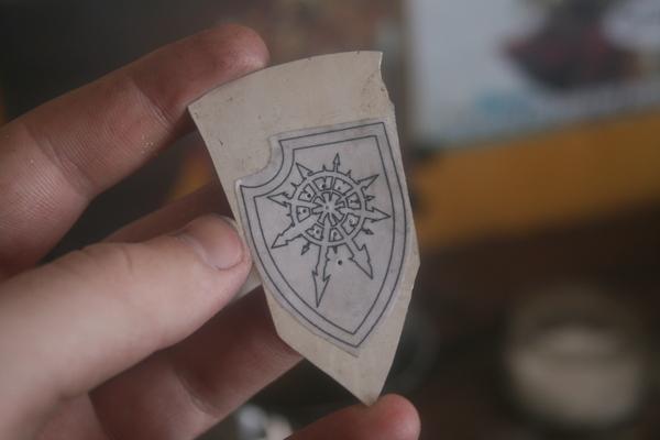 Кулон с символом Хаоса Ручная работа, Кулон, Украшения, Warhammer, Хаос, Длиннопост