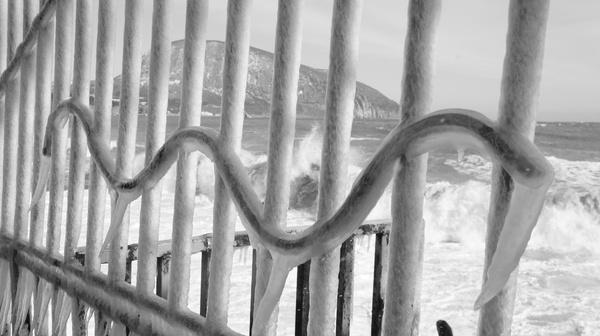 Южный берег Крыма Зимой Море, Зима, Ледяной Шторм, ЮБК, Крым, Гурзуф, Длиннопост