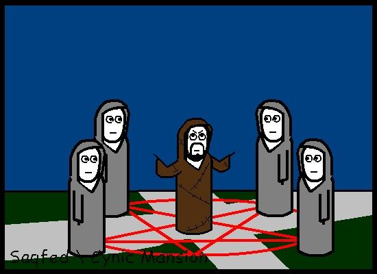Призывательское (Анимированный комикс №23) Комиксы, гифка, анимация, cynicmansion, сатана