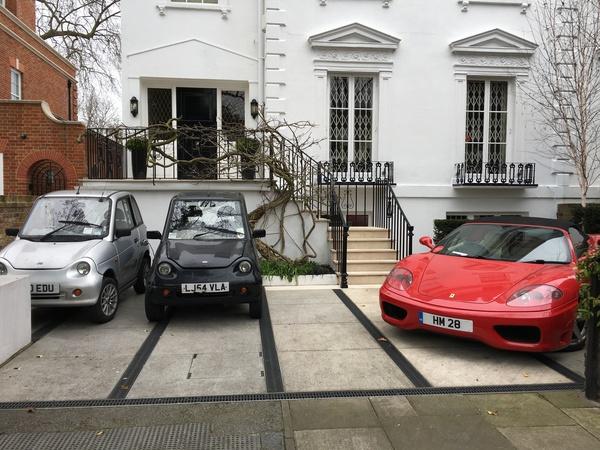 Когда наэкономил на топливе Машина, Ferrari, Лондон, Электрокар