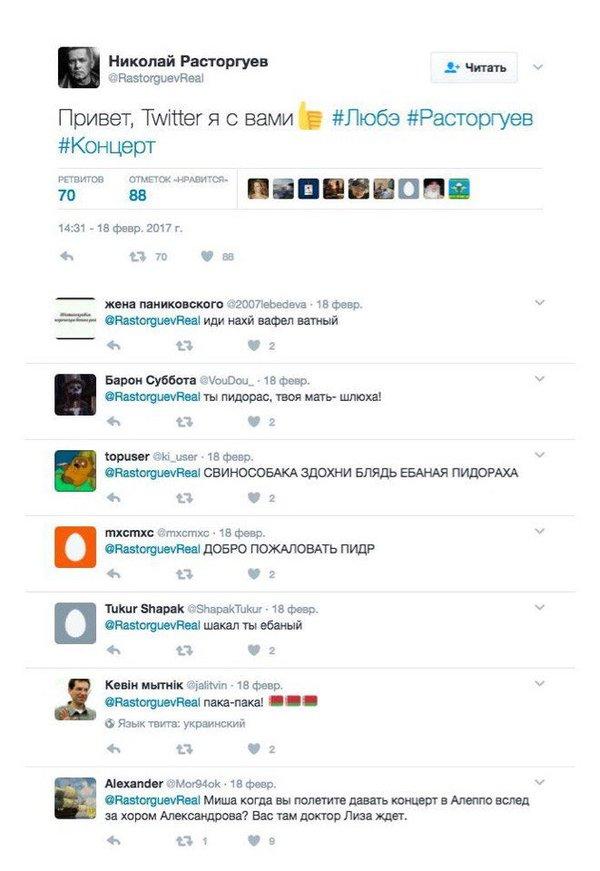 Когда зарегистрировался в твиттере, а там украинство Любэ, Россия, Украина, Дегенераты, Не политика, Николай Расторгуев, Политика
