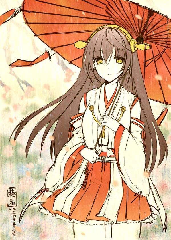 Haruna Аниме, Anime Art, Kantai collection, Haruna