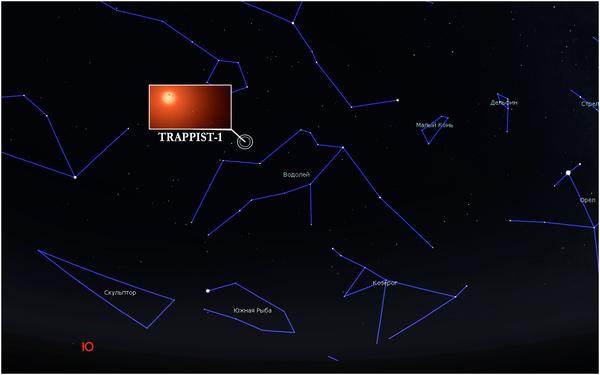 ЗВЁЗДНАЯ СИСТЕМА TRAPPIST-1 экзопланеты, иные планеты, фотография, звездное небо, звёзды