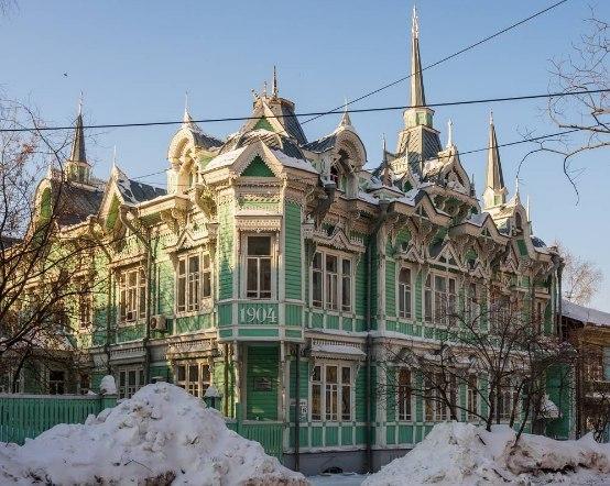 Здания деревянного зодчества Томск, Дом, Зодчество