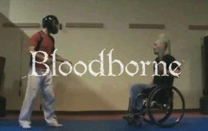 Бойтесь инвалидных колясок Dark Souls, Bloodborne, Юмор, Игровой юмор, Гифка