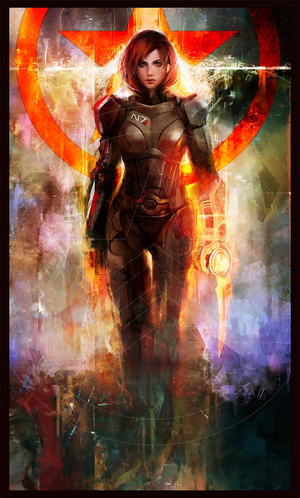 N7 Renegade Арт, Mass effect, Shepard, Femshep