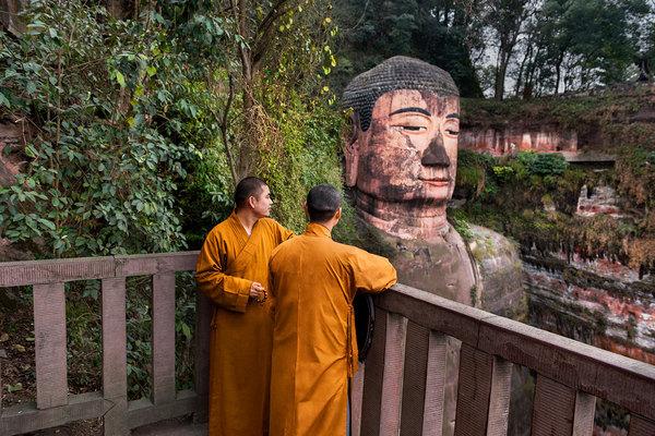 Статуя Будды в Лэшане Будда, Статуя, Лишан, Китай, длиннопост